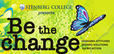 Be the Change Poster logo