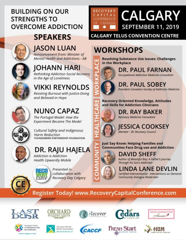 Recovery Capital Conference – Calgary, Alberta