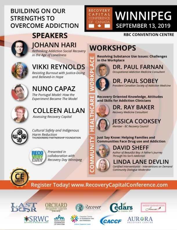 Recovery Capital Conference – Winnipeg, Manitoba