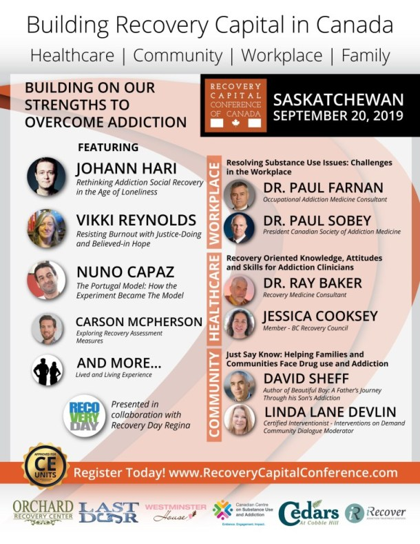 Recovery Capital Conference – Regina, Saskatchewan