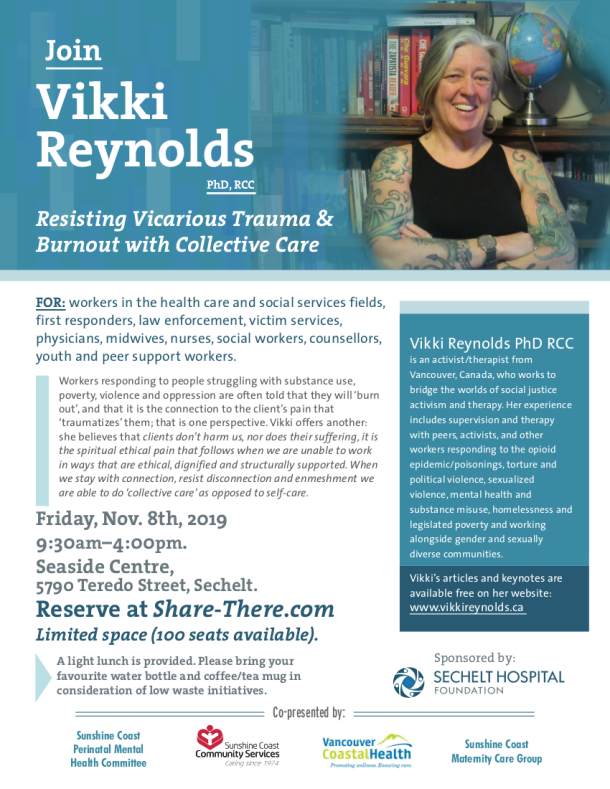 2019 Nov 8 Vikki Reynolds Workshop graphic sechelt