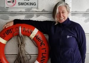Vikki Reynolds on boat