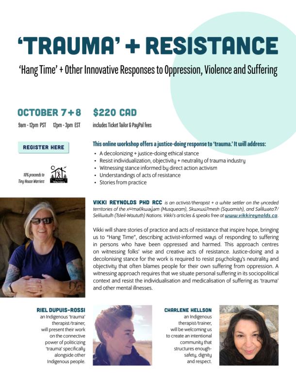 2021 Oct 7 & 8 Trauma & Resistance